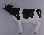 Life Size Cow Wall Decoration Statue