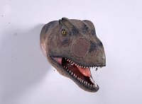 Large Life Like Allosaurus Head with Mouth Open Prop Display