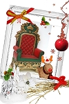 Large Santa Chair ~ Large Santa Throne!