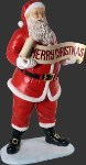 Large Santa with Merry Christmas Banner Resin Prop Display
