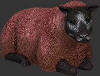Sheep Lying Down Life Size Brown Resin