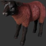 Lamb Life Size Brown Resin Standing