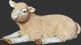 Life Size Baby Merino Lamb Resting - Resin Prop Display