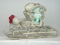 White Christmas Snow Sleigh ~ Christmas Décor