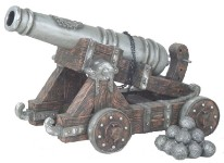 Large Pirate Theme Resin Cannon Display