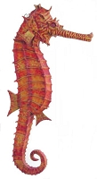 Small Sea Horse Life Like Statue 3.5' Hanging Display!