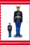 Marine at Attention -6' Life Size Military Statue