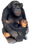 Monkey and Baby Large  2.5'  Life Size Statue