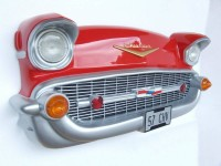 57 Chevy Wall Decor With Real Working Lights! ~ Red