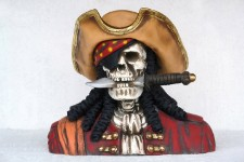 Skeleton Royal Pirate Skull Head Bust