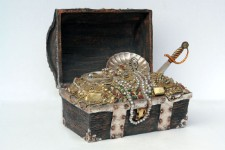 Pirate Treasure Chest  ~  Large Resin Pirate Theme Prop Display!