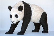 Panda  Bear Walking Statue 3.5' Life Size Prop Display