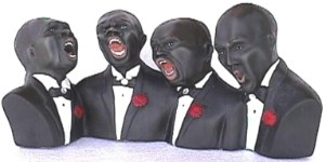 Singing Quartet  Life Like Statue 9