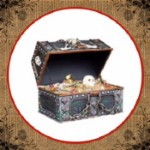 Large Pirate Treasure Box with Treasure