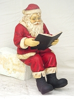 Santa Reading Book for Rocking Chair Christmas Décor
