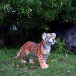 Life Size Bengal Tiger Cub Standing Statue