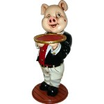 Comical Pig Butler 3' Display