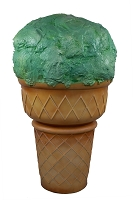 Large Mint Scoop Ice Cream Cone Standing Display