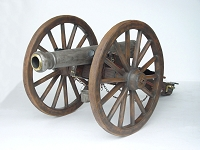 Realistic Cannon with Wagon Wheels Replica