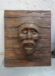 Eerie Face-Wood Panel