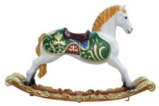 3.5' Toy Rocking Horse with Blonde Mane