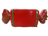 Wrapped Candy Red with Green Stripes