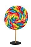 7' Rainbow Swirl Peppermint Candy Tree with Base