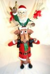 Elf on Funny Reindeers Shoulders