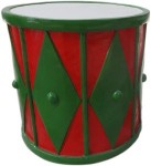 2' Red and Green Drum