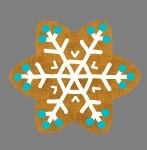 GINGERBREAD SNOWFLAKE STYLE 3