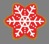 Gingerbread Snowflake Style 1