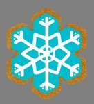 Gingerbread Snowflake Style 2