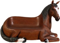 Brown Horse Bench