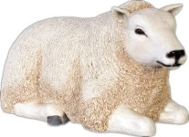 Life Size Sheep Lying Down