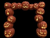 8' Jack-O-Lantern Arch lit with LED