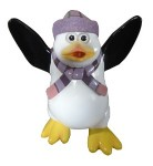 Mini Funny Penguin Kipper with Light Purple Hat & Scarf