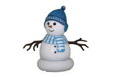 Mini Snowman Son dressed in Blue