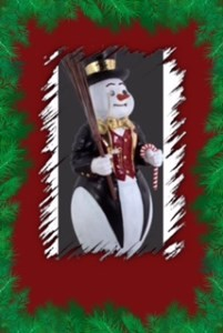 Large 4' Snowman - Resin Christmas Prop Display
