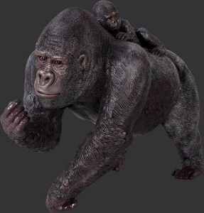 Life Size Gorilla and Baby Resin Statue Prop Display
