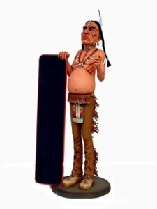 Indian with Menu 5.5' Life Size Statue