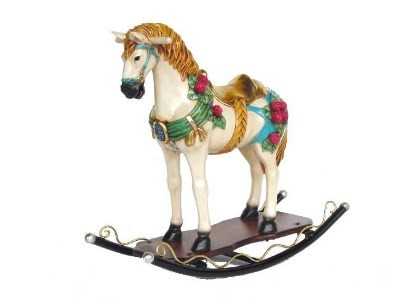 Rocking Horse With Flowers 2.5' Display