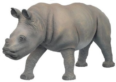 Rhinoceros Baby Life Size Statue ~ 4.5' Long