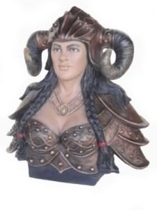 Female Viking Head Bust 2.5' Life Size Statue