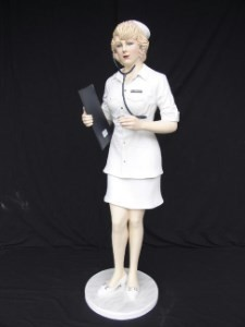 Nurse 6' Life Size Statue ~ Prop Display