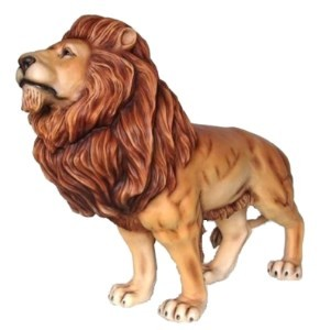 King Lion Life Size Statue Giant - Over 5.5' LONG