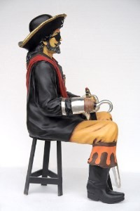 Captain Hook Pirate Sitting  Life Size Resin Statue ~ Large Pirate Prop Display!