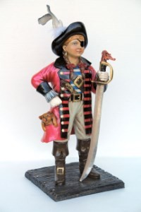 Pirate Girl Life Size Resin Statue 4' ~Pirate Kids Theme Prop Display