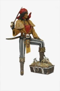 Lady Pirate with Treasure Chest  Resin Statue~6' Life Size Prop Display
