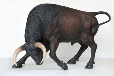 Life Size Spanish Fighter Bull Statue