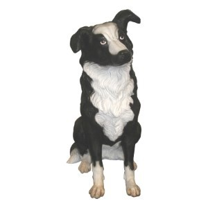 Life Size Border Collie Dog Statue